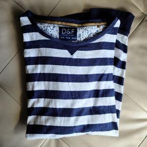 D&F Ricky Singh slim fit striped long sleeve